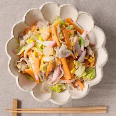 野菜たっぷり ちゃんぽん風炒め