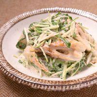 水菜とちくわの明太マヨサラダ
