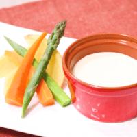 クリームチーズで温野菜のバーニャカウダ風味