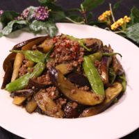 ご飯がすすむ!茄子とシシトウの甘辛炒め
