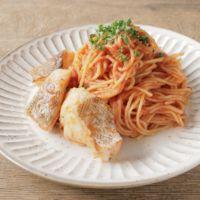 フライパン1つで 鱈のトマトソーススパゲティ