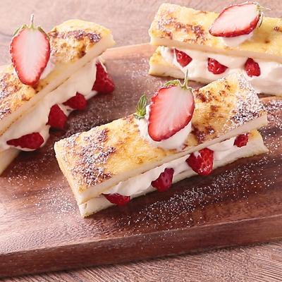 ケーキ風 ホワイトチョコのフレンチトースト