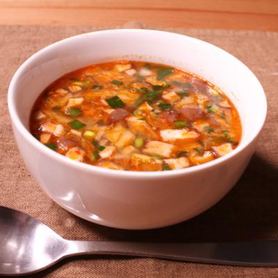 旨辛!ざくざくキムチスープ