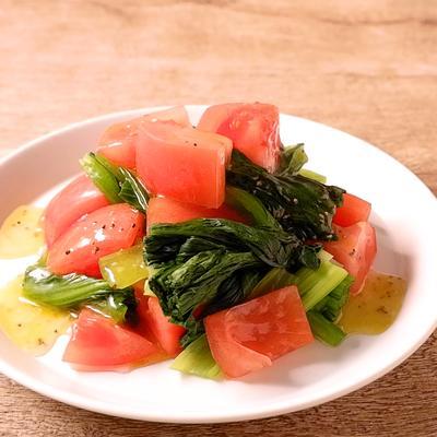 小松菜とトマトの簡単サラダ