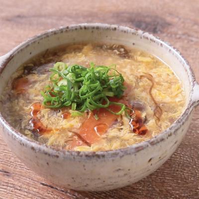 もずく酢の酸辣湯スープ