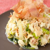 塩麹を使って セロリとツナの炒り豆腐
