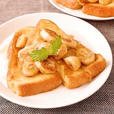 オーツミルクで焼きバナナフレンチトースト