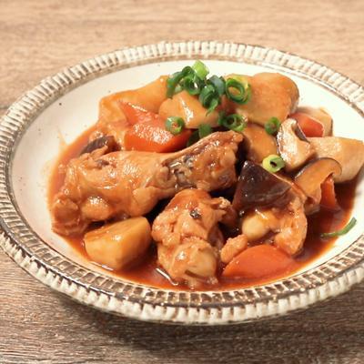 手羽元と里芋の辛味噌煮