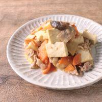 豚バラと豆腐の簡単和風炒め