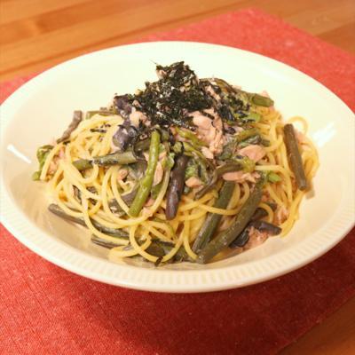 水煮で簡単!わらびとツナの和風スパゲティ