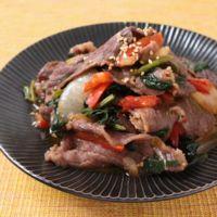 3種の野菜が入った 国産牛のプルコギ