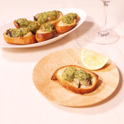 ワインにぴったり 牡蠣の香草バターパン粉焼き