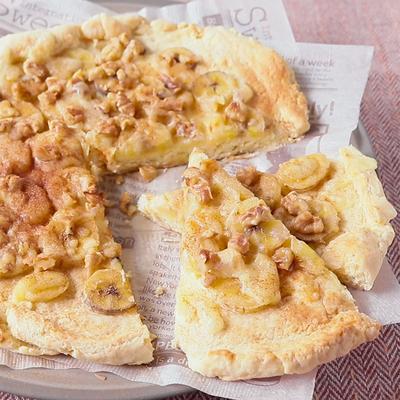 ホットケーキミックスで簡単 バナナピザ