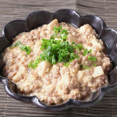 くずし豆腐とひき肉の花椒あんかけ