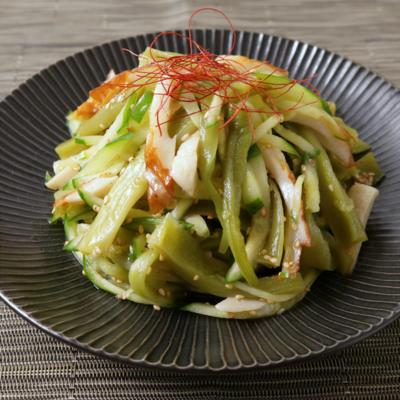 シャキシャキ山くらげの中華風サラダ