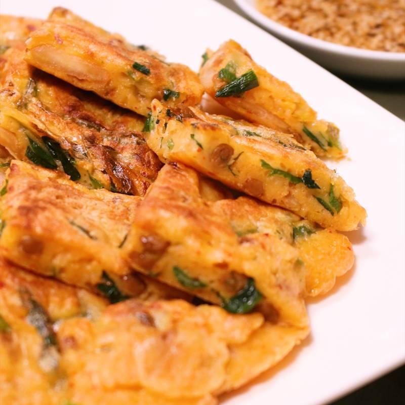 納豆とキムチのチヂミ 作り方 レシピ クラシル