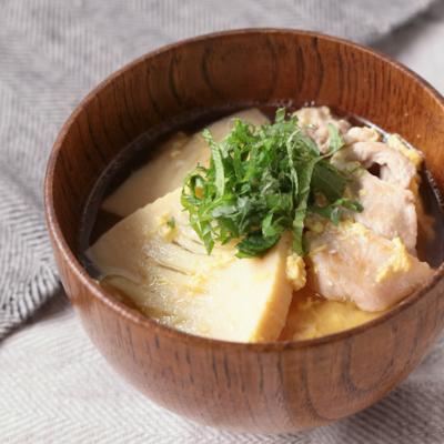 大葉香る タケノコと豚肉の味噌汁