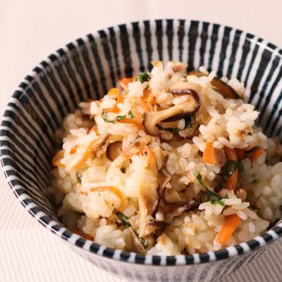 節約レシピ しいたけとツナの甘辛混ぜご飯