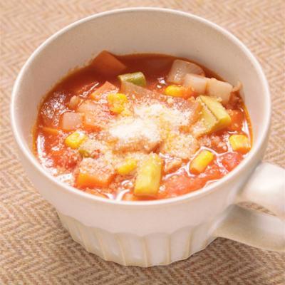 トマトとたっぷり野菜のミネストローネ
