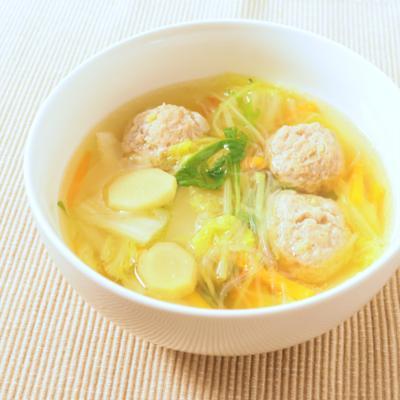 ぽかぽか 肉団子と春雨生姜スープ