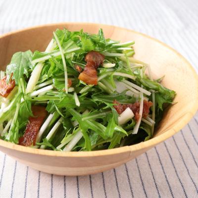 水菜のベーコンホットサラダ