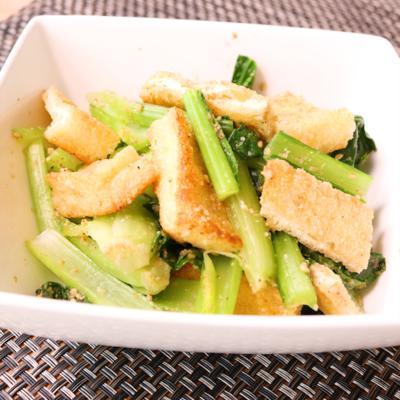 簡単副菜 小松菜と油揚げのごま和え