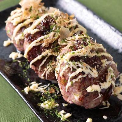 豚ひき肉のお好み焼き風つくね