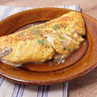 ビストロ風 マッシュルームのチーズオムレツ
