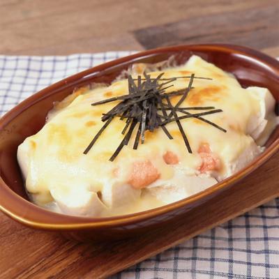 夜食にもおすすめ 明太チーズ豆腐