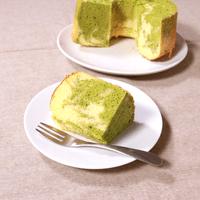 抹茶のマーブルシフォンケーキ