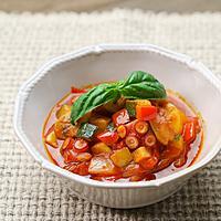 アヒージョのオイルで夏野菜たっぷりラタトゥイユ