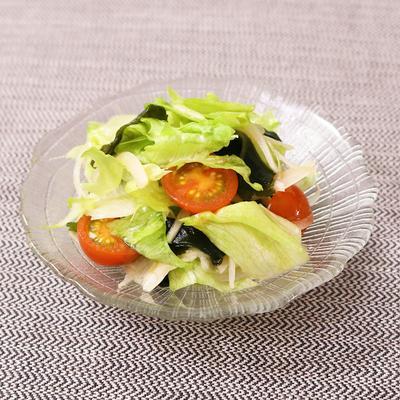 レタスとわかめの中華サラダ