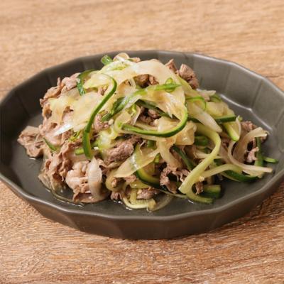 青唐辛子でピリッと牛肉の冷製サラダ