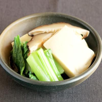 優しい味 高野豆腐と小松菜の含め煮