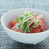 トマトのおろし酢和え