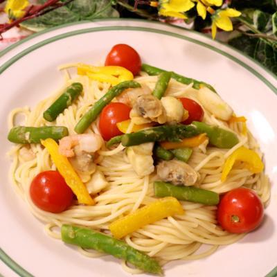 具沢山!彩り野菜のスパゲティ