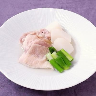 鶏肉とカブのあっさり煮