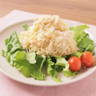 切り干し大根と鮭フレークのクリームチーズサラダ