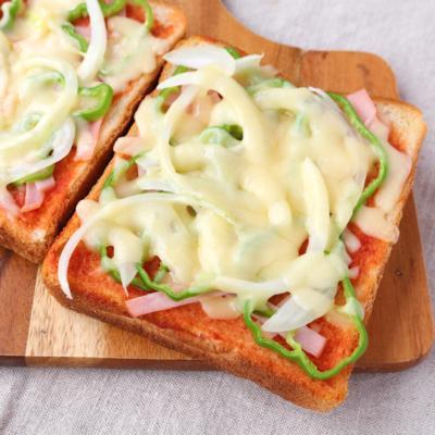 朝ごはんに 簡単ピザトースト