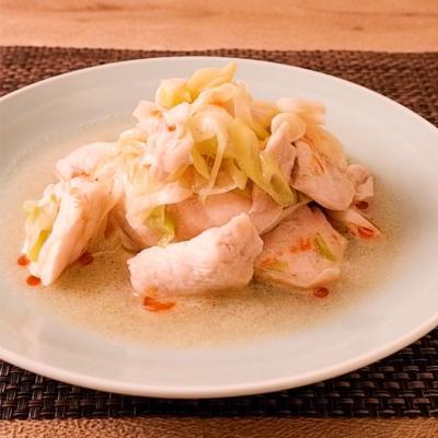 3ステップで簡単 たっぷりねぎと鶏むね肉の中華蒸し