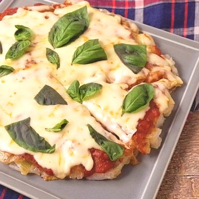 とろーりチーズのピザ風ハッシュドオニオン
