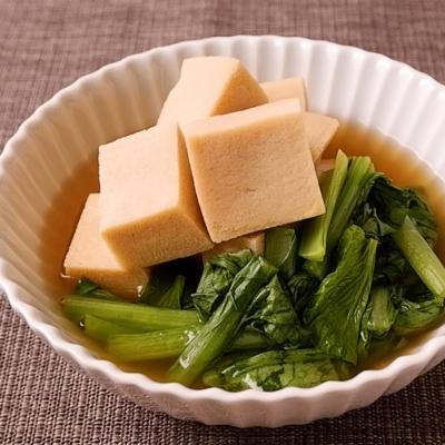 電子レンジで簡単 高野豆腐と小松菜の煮浸し