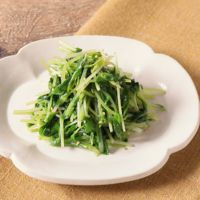 豆苗と水菜の塩ナムル