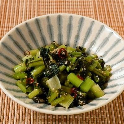 野沢菜のピリ辛油炒め