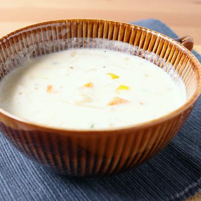 えのきとミックスベジタブルのミルクスープ