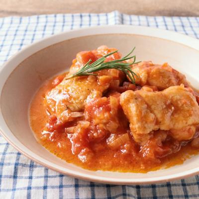鶏とトマトの猟師風 チキンカチャトーラ
