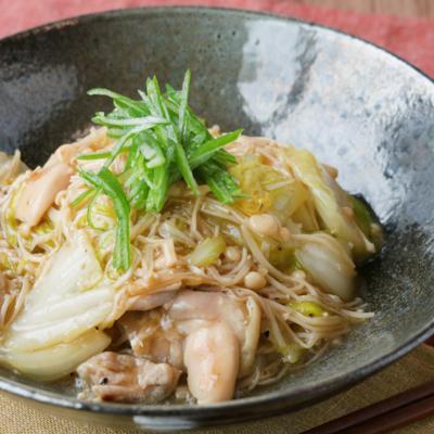 鶏もも肉と白菜の中華風あんかけうどん