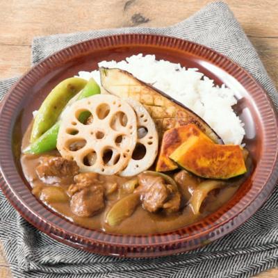 彩り焼き野菜のカレー