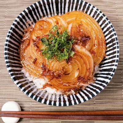 玉ねぎのお酢焼き丼