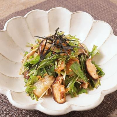 キムチと水菜の簡単和え